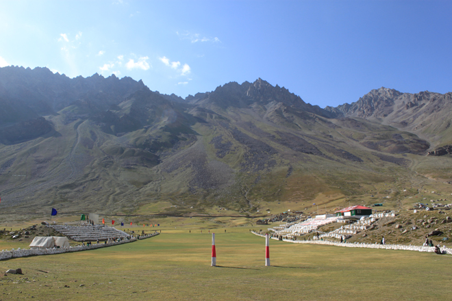The Shandur polo ground, first used by a British colonial officer Major Cobb in 1936 for playing the sport