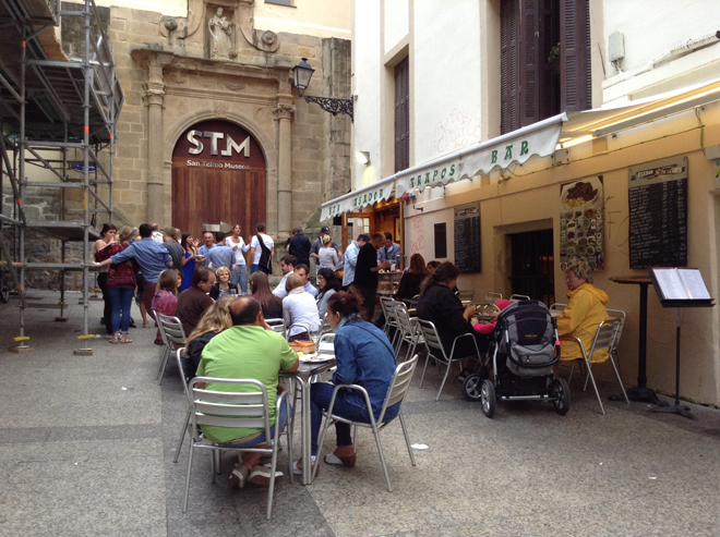 Eating pintxos in Parte Vieja or Old Town