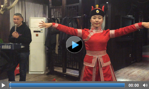 Culture of China: Chinese Girl Dancing at Yema Hotel Urumqi
