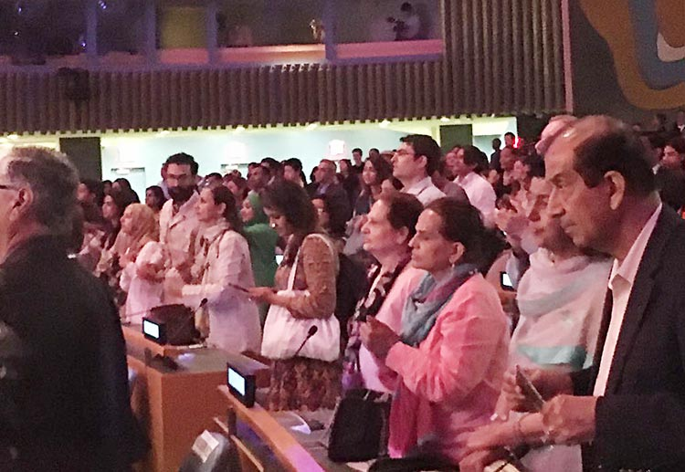 14th August Celebrations at UN General Assembly with Sachal Band - The crowd at UNGA, New York