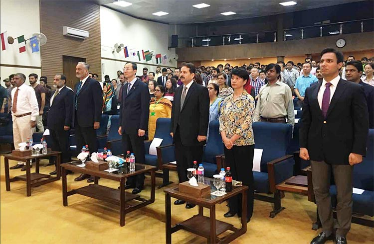 Mustafa Hyder Sayed, Executive Director Pakistan-China Institute, attended the event alongside H.E. Sun Weidong and other dignitaries - 16th Chinese Bridge Competition Held at NUML, Islamabad