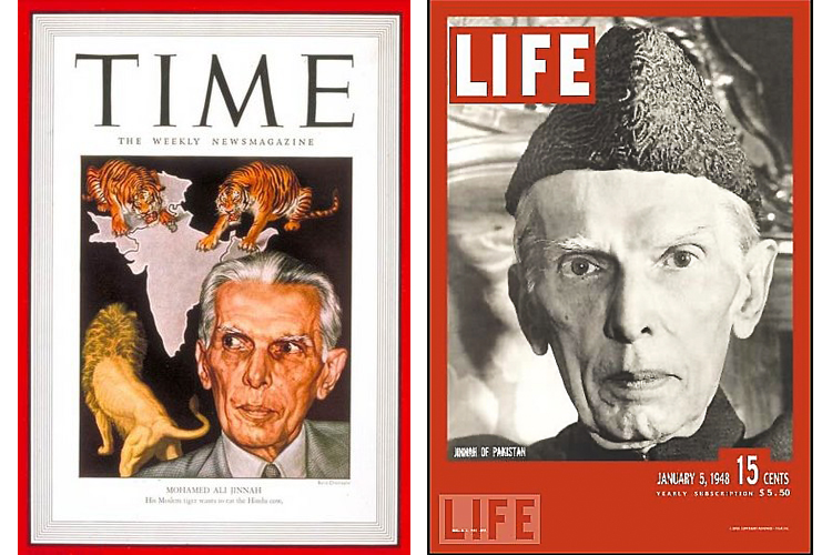 Quaid-i-Azam on the covers of Time (22nd April, 1946) and Life Magazine (5th January, 1948) - Vision of the Founding Father Quaid-i-Azam Muhammad Ali Jinnah