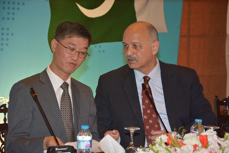 H.E. Mr. Yao Jing, Chinese Ambassador to Pakistan and Senator Mushahid Hussain, Chairman PCI