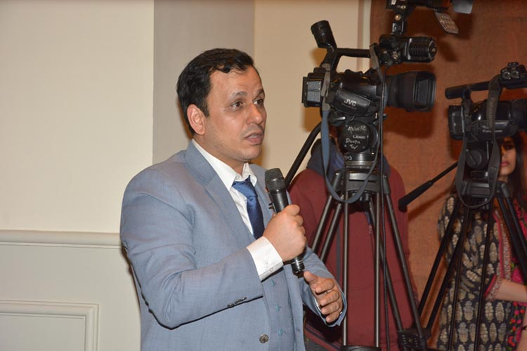 Pakistani journalist, Mr. Waseem Abbasi, participating in the discussion