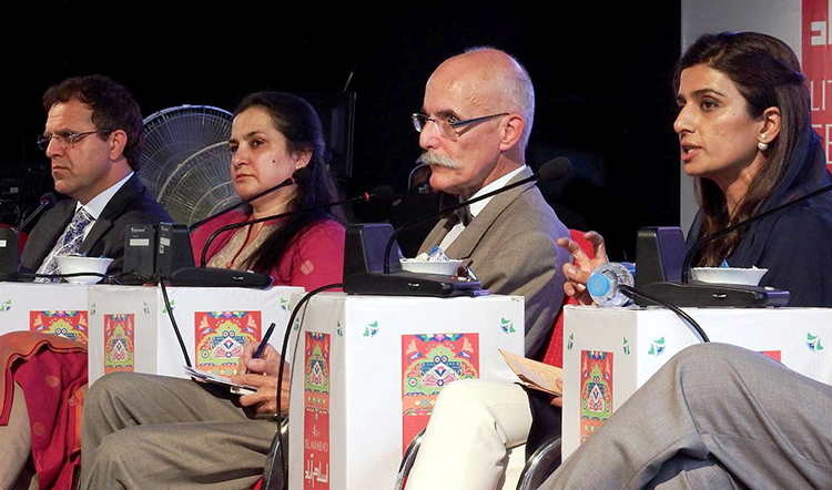 A session on 'Regional Connectivity and Stability' (source: Pakistan Today) - 4th Islamabad Literature Festival 2016 at Lok Virsa