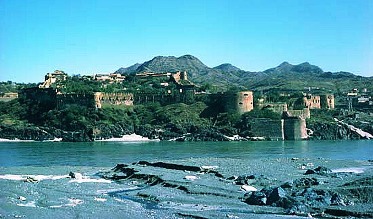 70 Years of Environment and Climate in Pakistan - Attock Fort along the Indus River, Northern Punjab, Pakistan