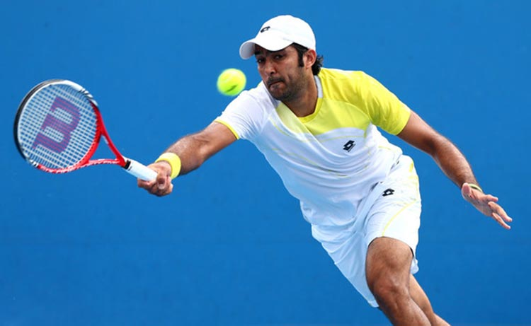 70 Years of Sports in Pakistan: Aisam ul Haq Qureshi in action at the US Open