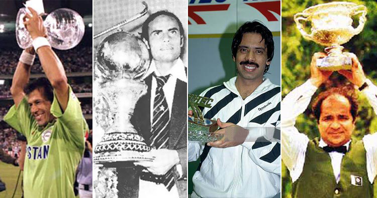 World Cup pakistan Cricket, Hockey, Squash and Snooker.
