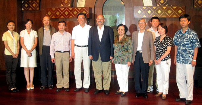 Chairman PCI, Senator Mushahid Hussain Sayed with delegation from China Foundation for International Studies - Chinese Delegation in Islamabad, Pakistan