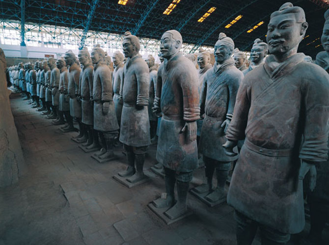 - THE TERRACOTTA WARRIORS UNEARTHED IN THE MAUSOLEUM OF THE FIRST QIN EMPEROR