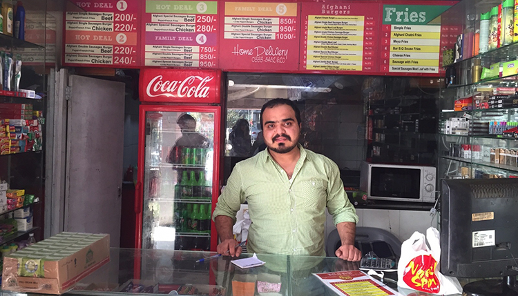 Najeeb Abbasi, owner of Najeeb Spot (source - The Chefling Tales) - Afghani Burgers in Islamabad