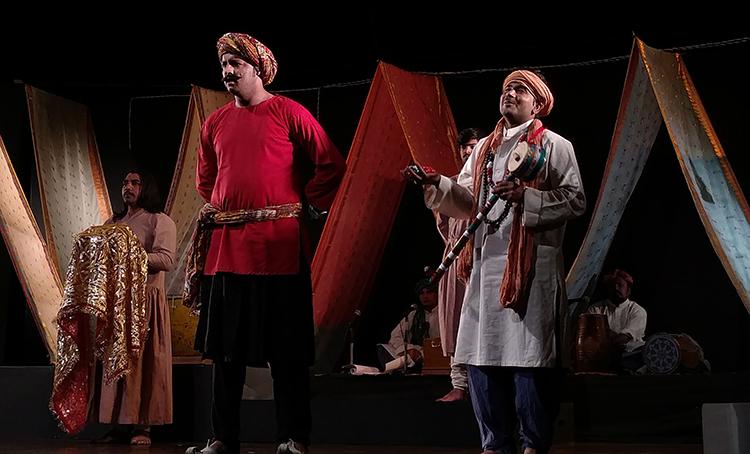A blind beggar sings Kabira's poetry - Ajoka Theatre at PNCA: Kabira Khara Bazaar Mein