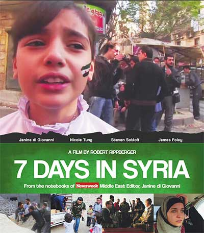 Official poster of '7 Days in Syria' - Aks International Festival 2017