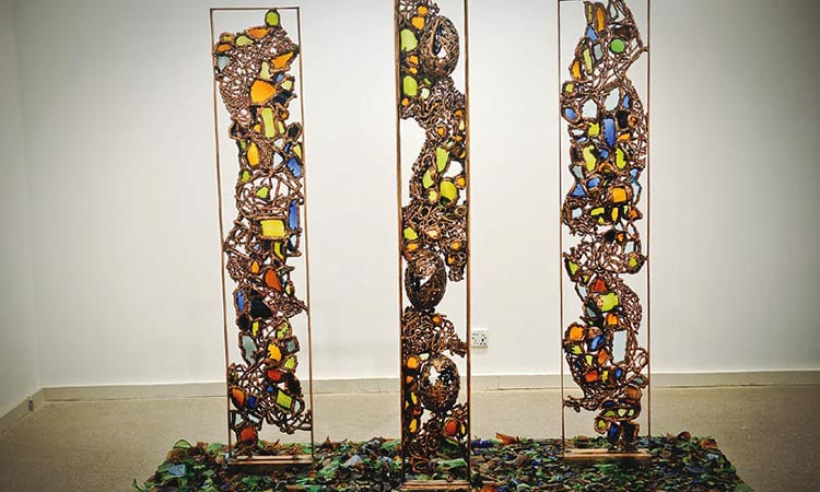 A series on copper and glasswork - Amin Gulgee: A Pakistani Artist and Visionary