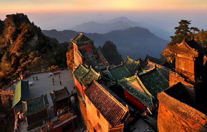 - ANCIENT BUILDING COMPLEX IN THE WUDANG MOUNTAINS