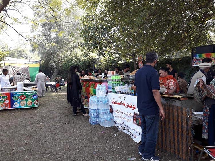 Food stalls at the Mela