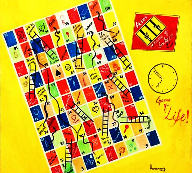 'Game of Life' by Hasnain Raza - Art by Prisoners of Centeral Jail Karachi at Alliance française de