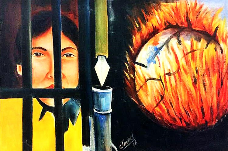 'Limbo' by Javed - Art by Prisoners of Centeral Jail Karachi at Alliance française de