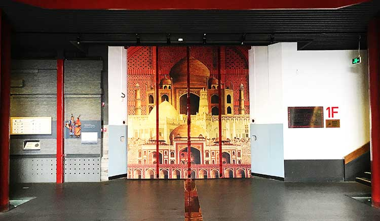 Jimmy Engineer's rendition of Mughal heritage welcomes visitors to the prestigious Zhengyangmen Museum in Beijing - Art Exhibition by Jimmy Enginner at Zhengyangmen Museum, China