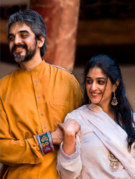 Omair Rana as Rustam and Nadia Jamil as Kiran - Pakistani Urdu Theatre: 'The Taming of the Shrew'