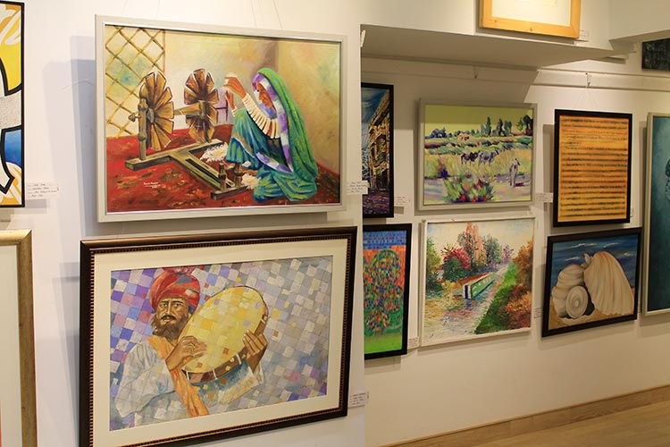 Art covered every nook and cranny of the gallery - Baad-e-Saba Exhibition by Artists of Sindh at Art Scene Gallery