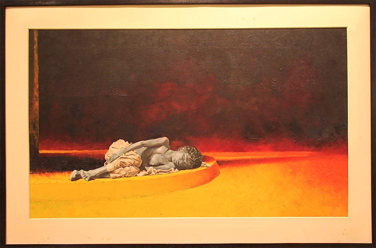 'Dreams Never Sleep' by Hameed Magsi - Baad-e-Saba Exhibition by Artists of Sindh at Art Scene Gallery