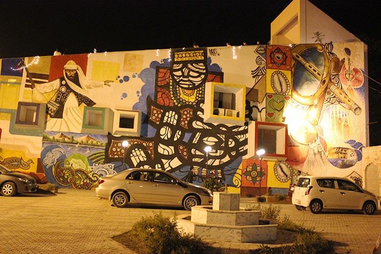 Mural on the wall of Lok Virsa Media Centre