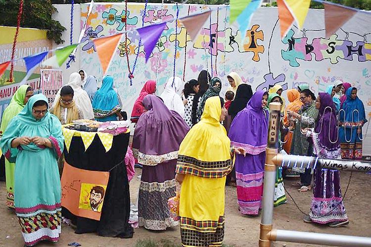 Bohra Bazaar at Frere Hall Karachi