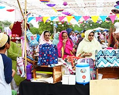 Bohra Bazaar at Frere Hall Karachi