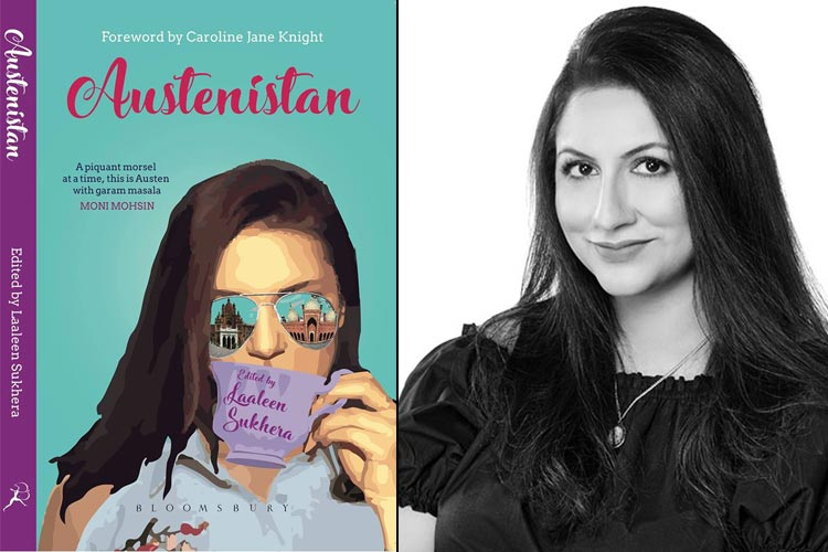 Book cover (L) and the editor, Laaleen Sukhera (R) - Book Austenistan by the Writers from JASP