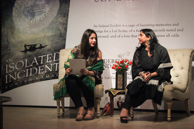 Author Soniah Kamal (right) with journalist Laleen Khan (left) - Book Launch - 'An Isolated Incident' Debuts In Islamabad