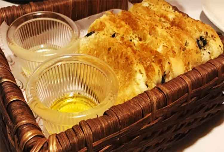 Delicious Buon Cibo Olive Bread - Buon Cibo Restaurant Karachi Food