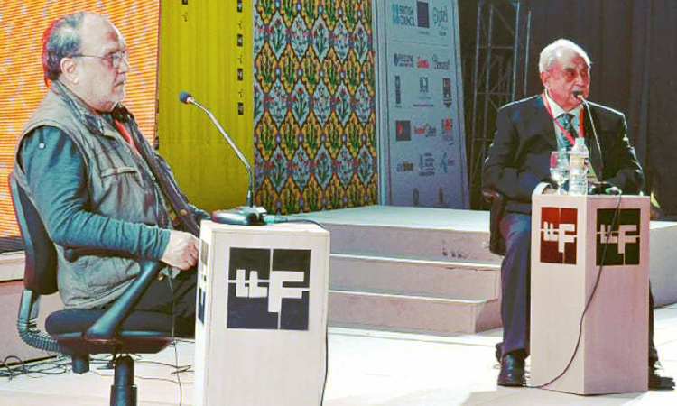 Syed Babar Ali and Khaled Ahmed - Business and Literature Unify at LLF 2016