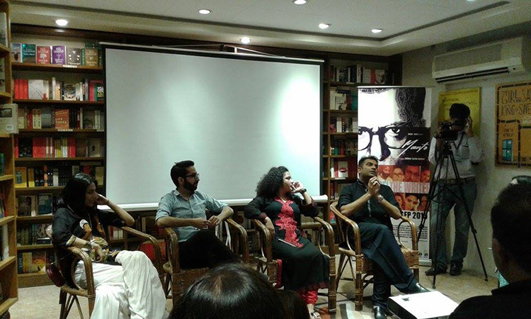(l-r) Meesha Shafi, Jamal Rahman, Sania Saeed and Sarmad Khoosat (photo by Maryam Muhammad) - Conversation with the Cast of New Pakistani film Manto