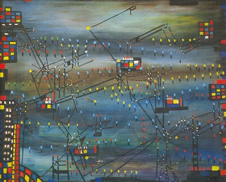 Celebrating 70 Years of Pakistani Art - Zubeida Agha's 'Karachi by Night' (1956)