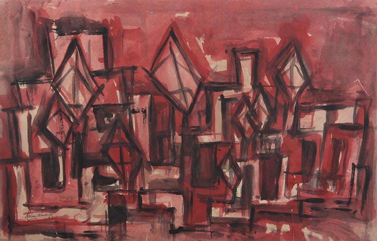 Celebrating 70 Years of Pakistani Art - Rasheed Araeen's 'Windcatcher In Pink' (1963)