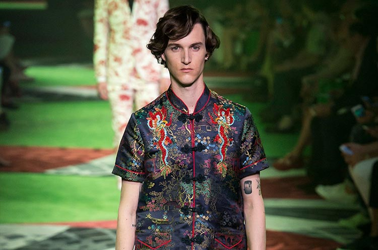 Chinese Cultural Influence over International Fashion - Gucci Spring Summer Men 2017