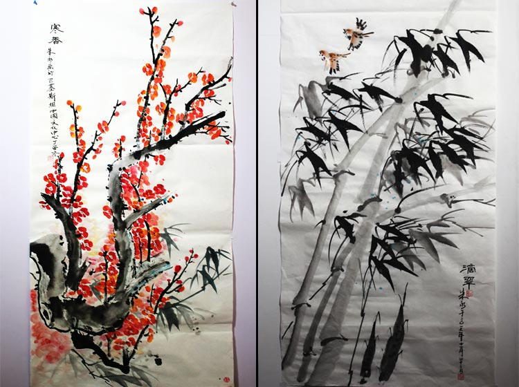 Ink-wash paintings by Mr. Zhu Yong