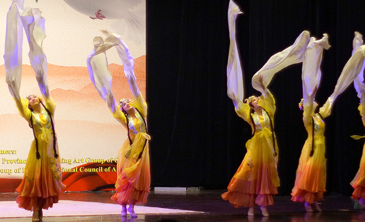 The Hunan Provincial Performing Art Group of China with a classical Chinese dance routine - Chinese Mela: Celebrating 65 Years of Pak-China Relations