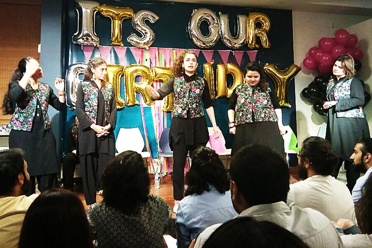 'The Khawatoons' performing on their first anniversary - Comedy Group The Khawatoons Celebrate their First Anniversary