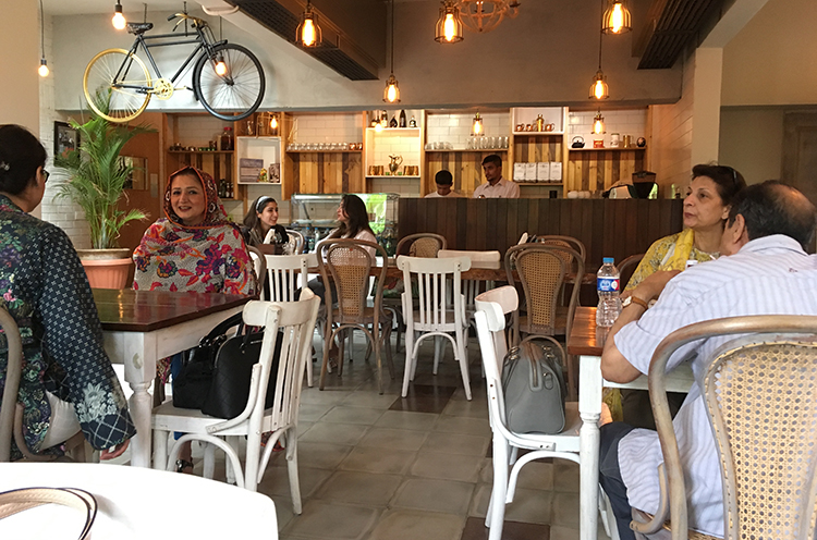 Indoor seating - Cote Rotie Restaurant, Karachi
