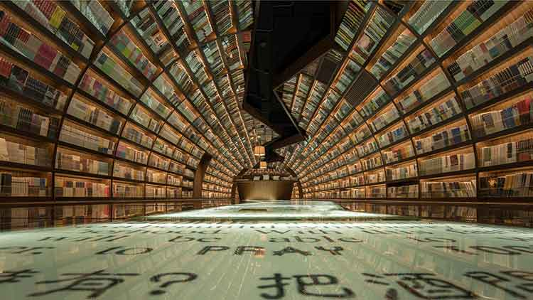 Zhongshuge bookstore in Yangzhou (source : Inhabitat) - Cultural Lighthouses of a City - Bookstores in Yangzhou