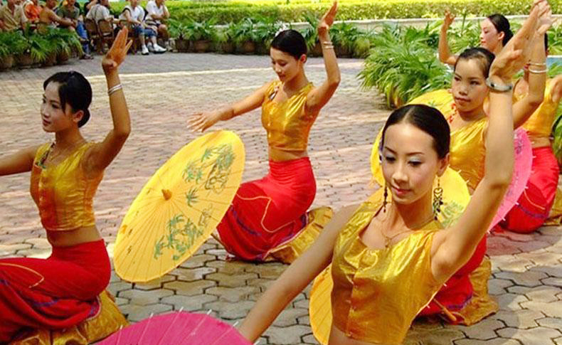 Dances performed by Dai People at the China Folk Culture Village, Shenzhen - Dai People in China