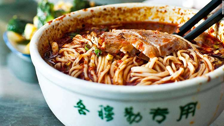 Hand-Pulled Noodles with Beef (source: CNN) - Delicious Food in Lanzhou