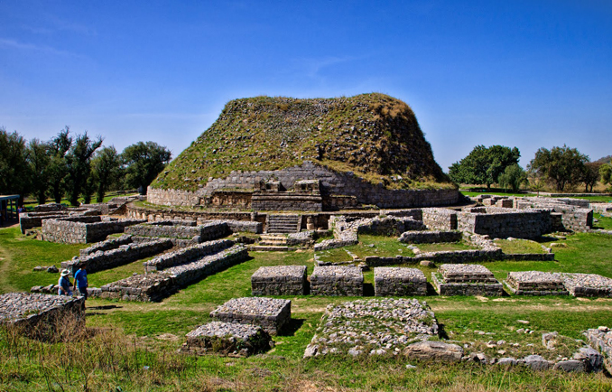 View of ancient Dharmarajika Stupa, Taxila - Silk Road: Discovering Taxila and Islamabad