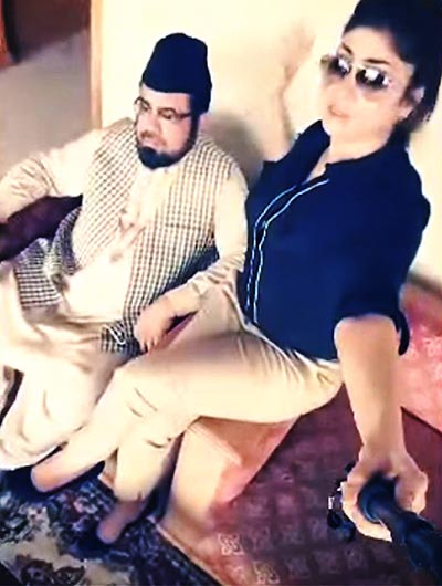 Qandeel Baloch with Mufti Abdul Qavi, a still from the video which created a stir - Baaghi, a serial inspired by Qandeel Baloch