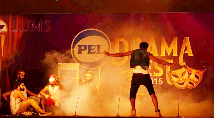 NCA mesmerized the crowd with their brilliant improv performance - Dramaline LUMS Annual Dramafest 2015