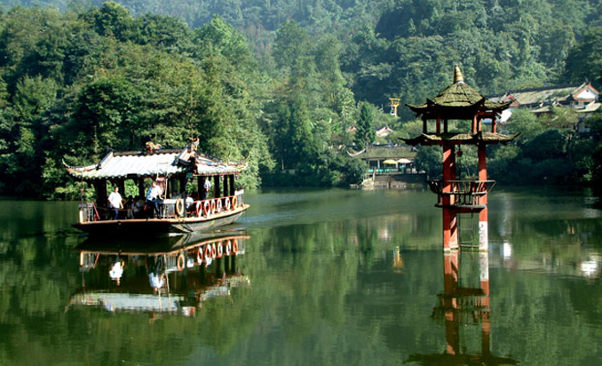 A view of Mount Qingcheng - Dujiangyan Hydraulic Project and Mount Qingcheng in China