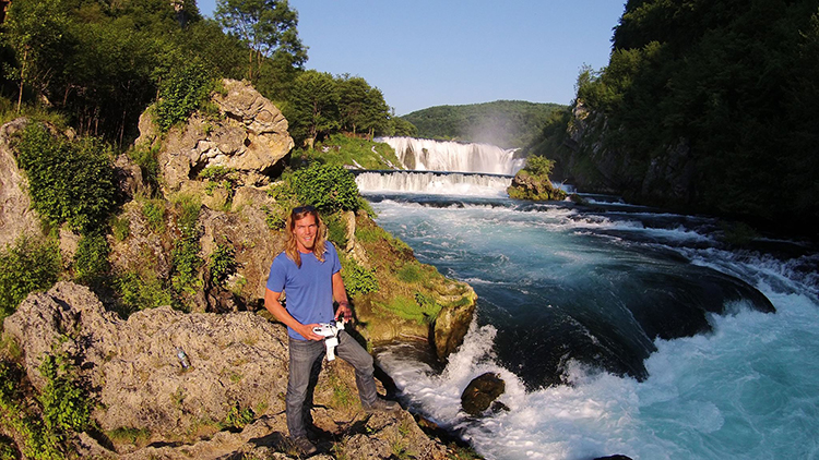 Strbacki buk waterfalls, Serbia - Eric Visser in Pakistan on his Motorbike