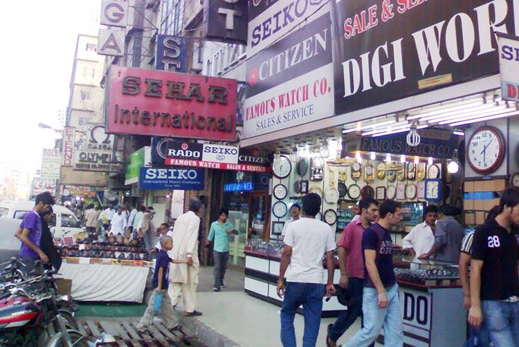 The famous watch market in Saddar - Evolution of Saddar Bazaar Karachi